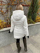 Пуховик женский белый SIYAXIGE 938-2, фото 7