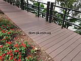 Уголок для террасной доски из ДПК Хольцдорф  3000x47x47 мм импрес, фото 6