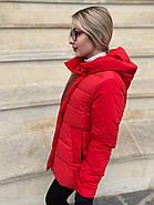 Пуховик короткий красный Tongcoi 7105-red, фото 3