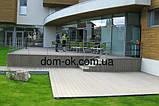 Террасная доска ДПК Полимер Вуд коллекция Лайт 138х19х2200мм Серый, фото 9