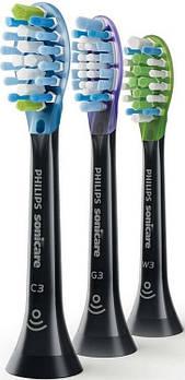 Насадки для звукових зубних щіток Philips BHs set Black 3BHs HX9073/33, 3 шт.
