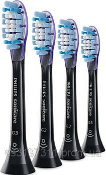 Насадки для звукових зубних щіток Philips BHs G3 Premium Gum Care Black 4BHs HX9054/33, 4 шт.