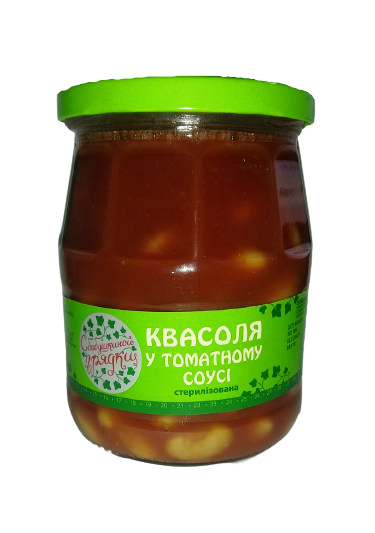 """Квасоля у томатному соусі  стерелізована """"С бабушкиной грядки""""  530 г"""