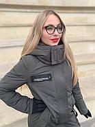 Длинная куртка пальто цвета хаки Tongcoi 7732, фото 2