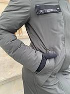 Длинная куртка пальто цвета хаки Tongcoi 7732, фото 4