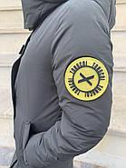 Длинная куртка пальто цвета хаки Tongcoi 7732, фото 6