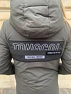 Длинная куртка пальто цвета хаки Tongcoi 7732, фото 5