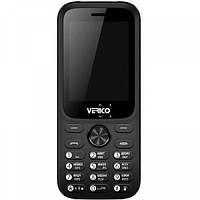 Кнопочный телефон с аккумулятором большой емкости и большим экраном на 2 sim Verico Carbon M242 Black