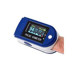 Пульсоксиметр на палец LK-88 Цветной OLED дисплей Синий (puls LED)