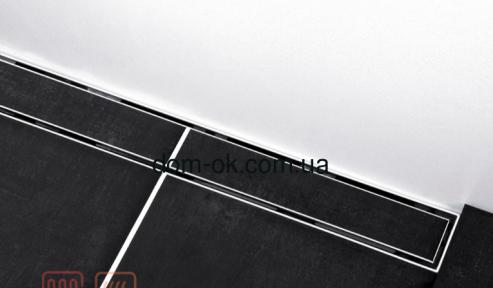 Душевой канал серия Compact Line , решетка сатин в раме, длина 70см
