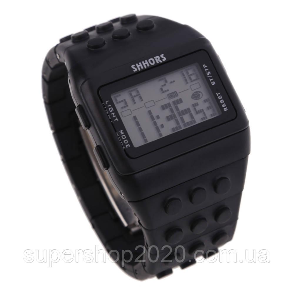 Електронні чоловічі годинники SHHORS - 79887.05+підсвітка