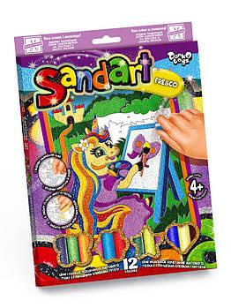Набор для творчества Sand Art фрески картины из цветного песка рисование песком