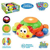Детская развивающая игрушка Добрый Жук, обучает цветам, животным, со светом и музыкой, жук 19 см, 7259