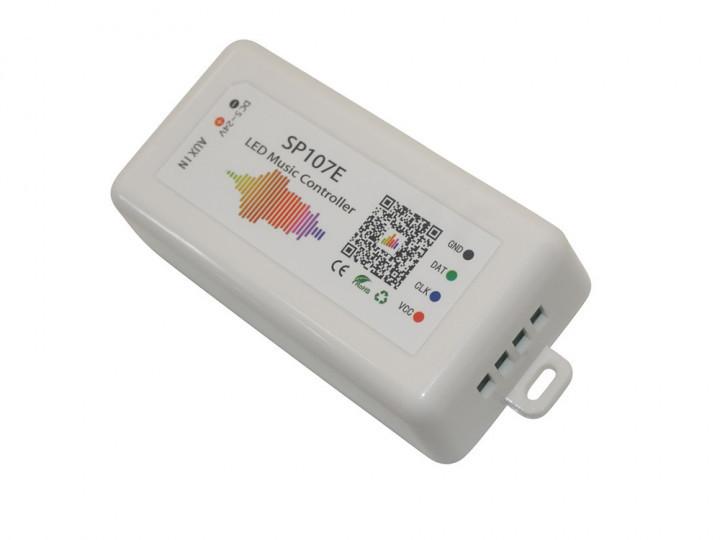 Музыкальный Bluetooth контролер SP107E для адресной светодиодной ленты или матрицы WS2811 WS2812 Белый