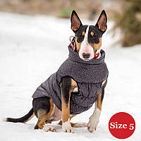 Жилет для собаки утеплений DIEGO sport 5/2 сірий, розмір 5