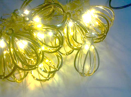 Гирлянда 20 led капля  GOLD LED 20 metal WW warm white