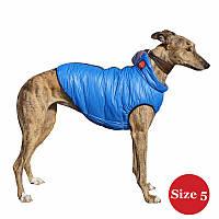 Жилет для собаки утеплений DIEGO sport 5/5 блакитний, розмір 5