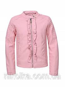 Куртки кожзам для девочек оптом, Glo-story, 122/128-158/164 рр., арт. GPY-1118