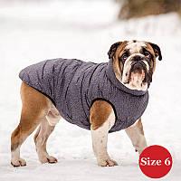 Жилет для собаки утепленный DIEGO sport 6/2 серый, размер 6