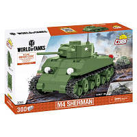 Конструктор COBI Танк M4 Шерман, 300 деталей