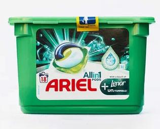 Средство для стирки Ariel 3в1 Lenor капсулы 18 шт.