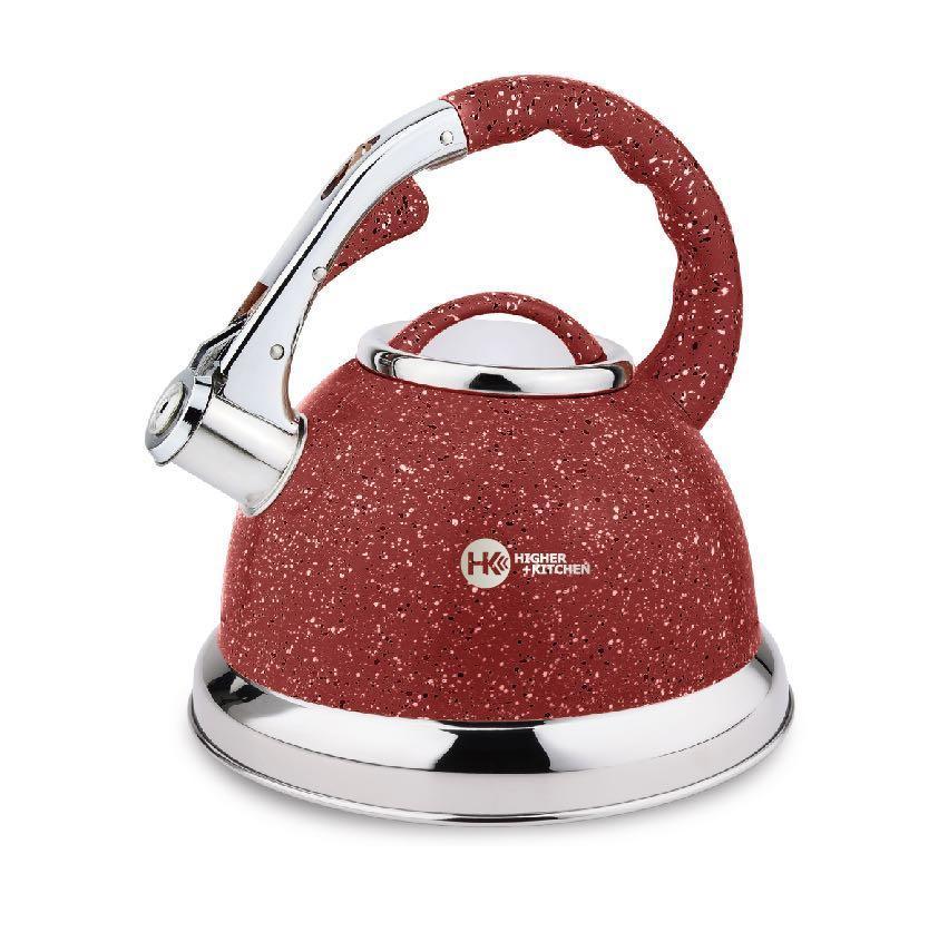 Чайник з нержавіючої сталі з гранітним покриттям 3,5 л зі свистком Higer Kitchen ZP-021