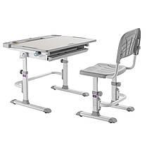 Комплект парта + стілець трансформери Cubby DISA GREY, фото 2