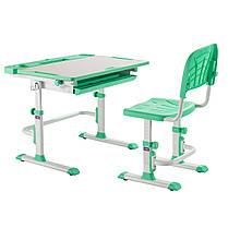 Комплект парта + стілець трансформери Cubby DISA GREEN, фото 2