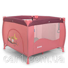 Манеж складной EL CAMINO ME 1030 ARENA ROSE LEN, розовый лен