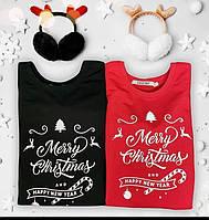 Новогодние парные свитшоты. Одежда для парня и девушки. Merry Christmas and happy new year