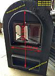 Дверца со стеклом чугунная, барбекю, печи, грубу, мангал, камин, фото 2