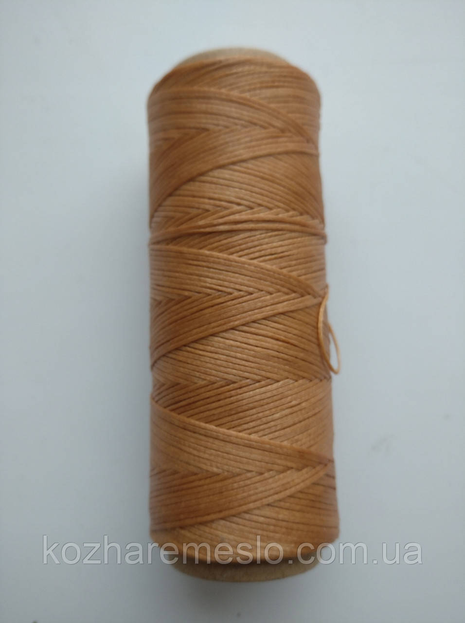 Нить вощёная плоская 0,8 мм светло-коричневая 100 метров