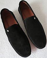 Massimo Dutti! Чоловічі замшеві чорні мокасини комфортне взуття