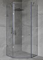 Распашная душевая кабинка 135 градусов с дверью на стекле