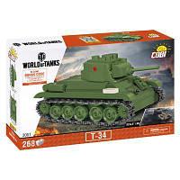 Конструктор COBI Танк Т-34, 268 деталей