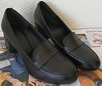 Ferre! Стильные женские кожаные туфли на удобном каблуке 6 см