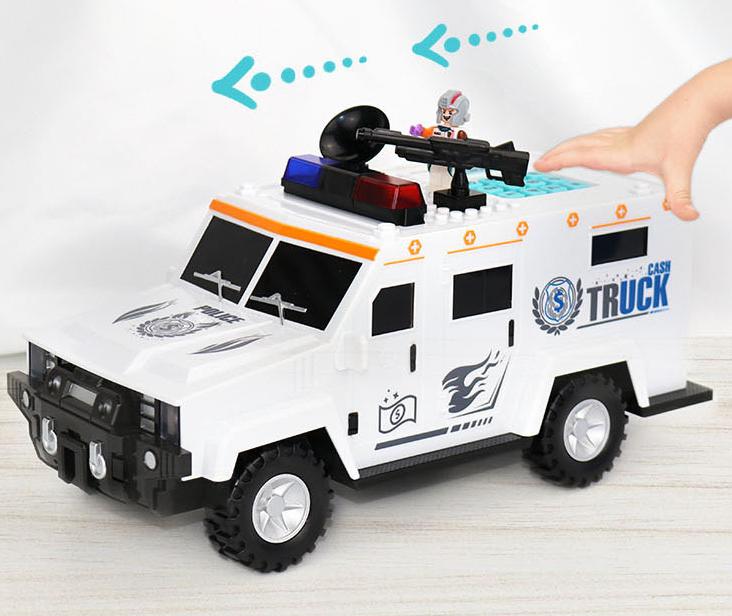 Дитячий сейф скарбничка з кодом і відбитком пальця у вигляді поліцейської машини Cash Truck