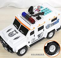 Дитячий сейф скарбничка з кодом і відбитком пальця у вигляді поліцейської машини Cash Truck, фото 3