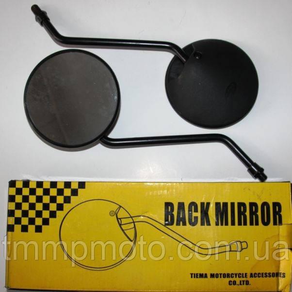 Зеркала Альфа чёрные , ножка чёрная M=8mm ТММР