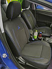 Чехлы на сиденья Ниссан Микра (Nissan Micra) (модельные, экокожа+автоткань, отдельный подголовник), фото 4