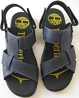 Мужские босоножки Timberland синие кожаные сандали сандалии обувь лето