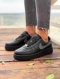 Женские кроссовки  Nike на меху черные(копия), фото 9