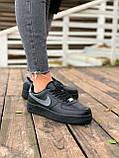 Женские кроссовки  Nike на меху черные(копия), фото 10