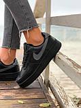 Женские кроссовки  Nike на меху черные(копия), фото 6