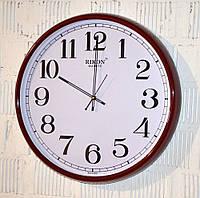 """Часы настенные """"Rikon RK1608"""" marun white (43 см.), фото 1"""