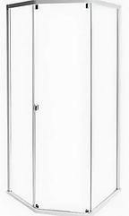 SHOWERAMA 10-5 передние стенки и дверь душевой кабины 80*90см, серебряный профиль/прозрачное стекло