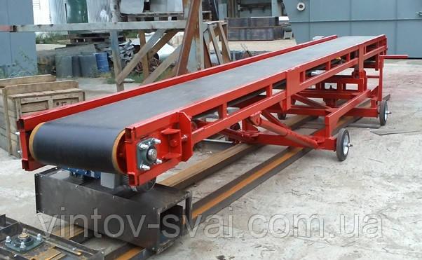 Ленточный конвейер шириной ленты 600 мм, длиной 14 м, 5,5 кВт