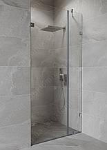 Душ кабіна 180 градусів з орними дверима на стіні