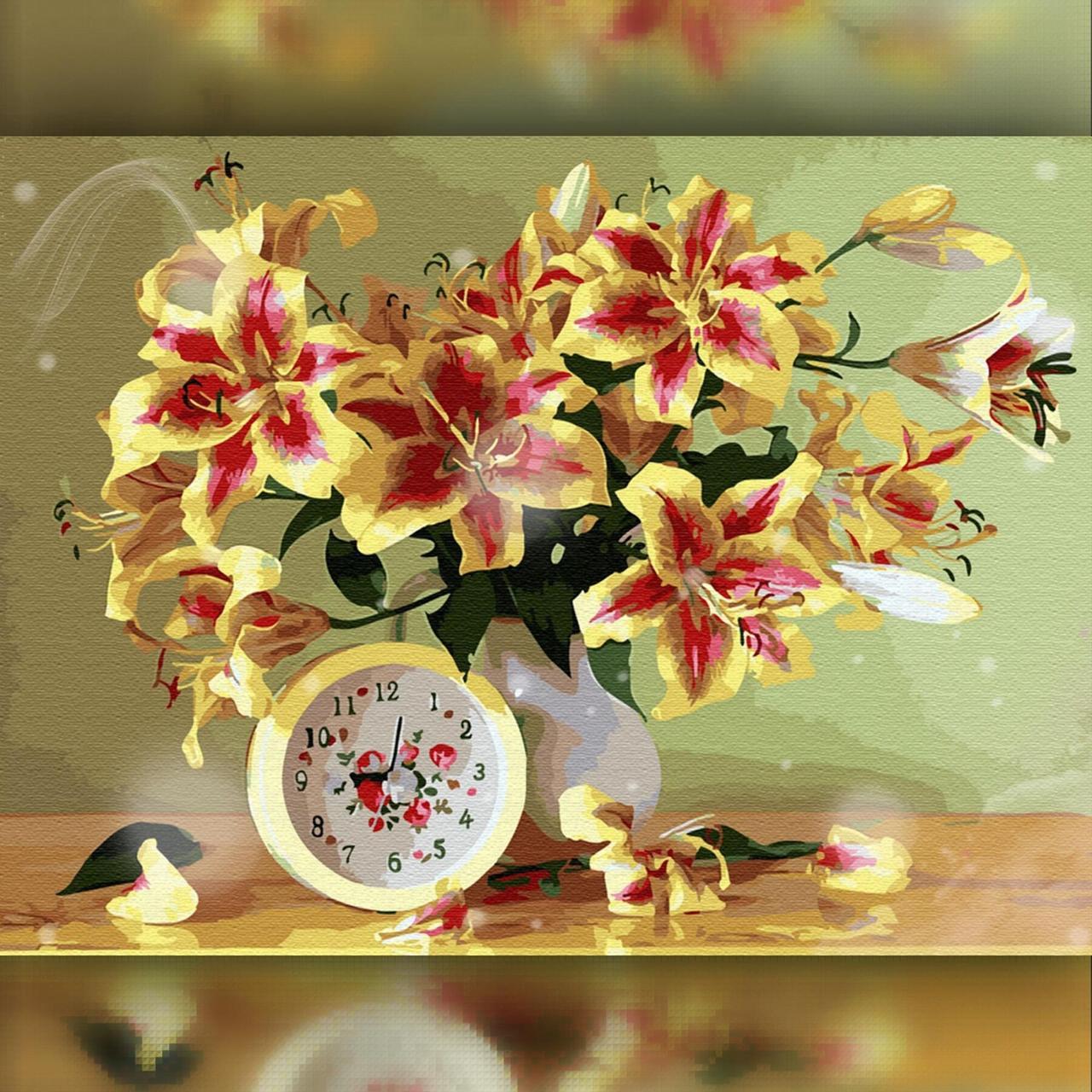 TWD10080 Набор алмазной вышивки Яркие лилии в вазе, 30х40 см