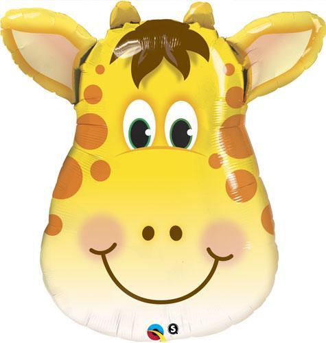 """Q 32"""" Jolly Giraffe Shape. Шар воздушный фольгированный Жираф. В уп"""